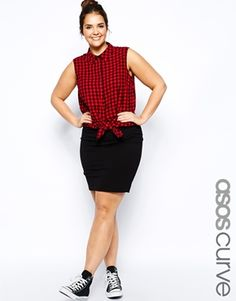 Image 1 of ASOS CURVE Mini Skirt In Jersey