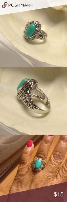 Fashion Ring Torquese Rodhium High quality Rodhium Jewelry Rings