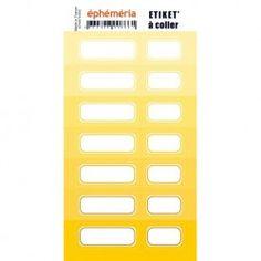 Planche d'étiquettes auto-collantes jaune - Ephemeria