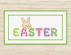 Buy 2 get 1 free Easter Bunny Cross Stitch by TimeForStitch