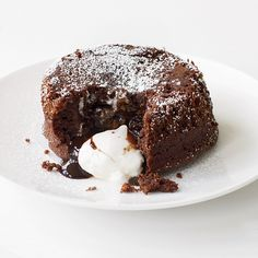 Molten Chocolate Cake with Marshmallow Filling Recipe - Grace Parisi | Food & Wine