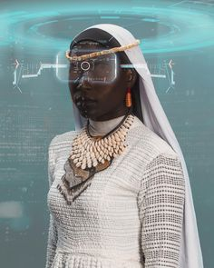 """Futuristic Ancestral Mother"" Modelling by Makeup by Photography by Couture by Black Girl Art, Black Girl Magic, African Culture, African Art, Futurism Art, Black Artwork, Cyberpunk Art, Afro Art, African Diaspora"