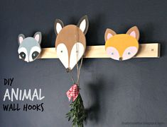 Ana White | Build a Woodland Animal Hook Plans - Deer, Raccoon and Fox | Free and Easy DIY Project and Furniture Plans