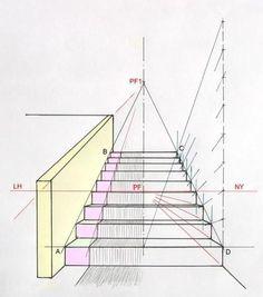 comment dessiner des escaliers en perspective