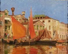 Martín Rico - Escena del canal veneciano