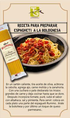 Espaguetti a la boloñesa estilo Rummo