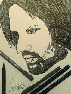 Desenho finalizado SUPERNATURAL SAM