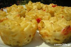 Κεκάκια με μακαρόνια και ανάμεικτα τυριά – enter2life.gr Healthy Mind, Healthy Eating, Potato Salad, Macaroni And Cheese, Muffins, Potatoes, Ethnic Recipes, Food, Party