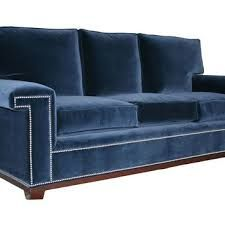 Resultado de imagen para navy blue velvet sofa