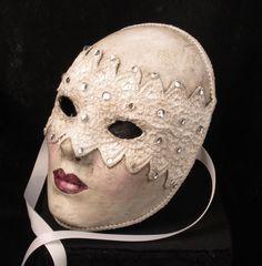 'Blushing Bride' mask by Effigy Masks of Seattle