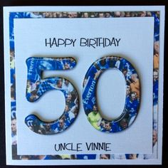 Order code: 011505.1 50th Birthday card for an Everton fan.