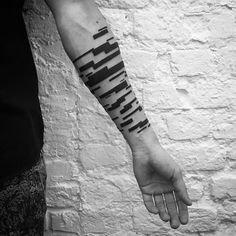 unique Geometric Tattoo - Digimatism: Abstract Geometric Tattoo Inspired by Digital Technology...