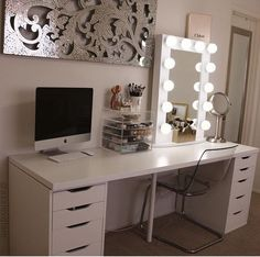 DIY Makeup Vanity with IKEA Pieces | Pinterest | Ikea drawers ...
