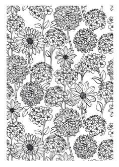 To print this free coloring page «coloring-adult-flowers», click on the printer icon at the right