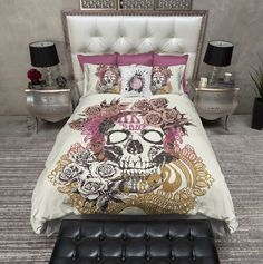 Earth Tour Skull Duvet Bedding Sets