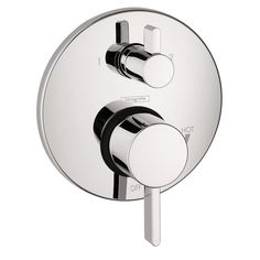 Buy the Hansgrohe 04231000 Chrome Direct. Shop for the Hansgrohe 04231000 Chrome Ecostat Thermostatic Valve Trim with Integrated Diverter and Volume Controls - Less Valve and save. Shower Valve, Shower Faucet, Bathroom Faucets, Shower Diverter, Bath Shower, Shower Hose, Kitchen Sinks, Bath Tub, Bathroom Vanities