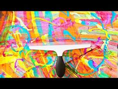 Rainbow Squeegee Painting Art - YouTube