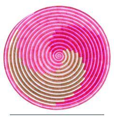 Hot Pink Swirl Plate