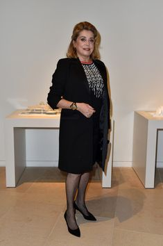 "Catherine Deneuve Photos Photos - Catherine Deneuve attends a Cocktail for the opening of ""Icones de l'Art Moderne, La Collection Chtchoukine""at Fondation Louis Vuitton on October 20, 2016 in Paris, France. - ""Icones de l'Art Moderne, La Collection Chtchoukine"" : Cocktail At Louis Vuitton Foundation In Paris"
