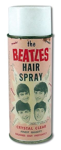 The Beatles Hair Spray, yeah yeah yeah! Ringo Starr, George Harrison, Paul Mccartney, John Lennon, Vintage Tins, Retro Vintage, Great Bands, Cool Bands, Rap
