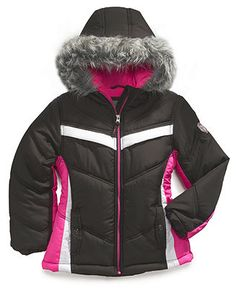 Protection System Kids Coat, Girls Chevron-Print Puffer Jacket - Kids Girls 7-16 - Macy's