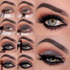 tutorial olho glitter