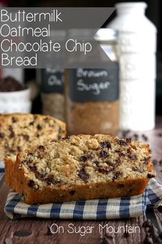 Buttermilk Oatmeal Chocolate Chip Bread