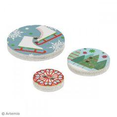 Botones de madera - Navidad Clásica - 12 pcs - Fotografía n°3