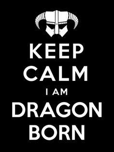 Keep Calm I Am Dragonborn (Skyrim mashup) Art Print