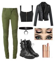 """""""Outfit #1"""" by ayla-raine on Polyvore featuring WearAll, Balmain, Giuseppe Zanotti and Charlotte Tilbury"""