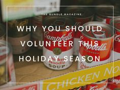 Why You Should Volunteer This Holiday Season Coffee Cans, Culture, Seasons, Holiday, Food, Vacation, Meal, Eten, Seasons Of The Year