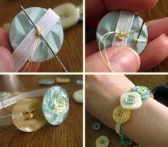 Crafting: Button Bracelets