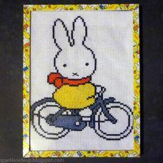 kawaii miffy bunny cross stitch craft project