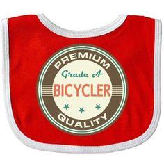 Inktastic Bicycler Vintage Baby Bib Cycling Sports Bicycling Gift For Biking Biker Hobbies Hobby Clothing Infant Hws, White