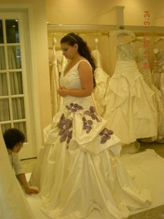 Side view of my custom couture Monique Lhuillier Schiaparelli #wedding dress at my last fitting