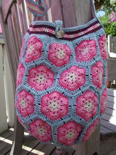 "African flowers bag ""Geisha"""