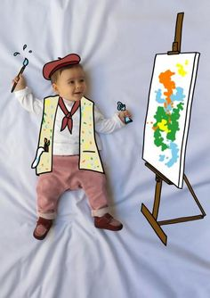 ana, artista, artist, painter, pintora, oleo, oil, canvas, lienzo, de mayor quiero ser, fotografía, infantil, bebé, creativa, ilustración, baby, photography, kid, illustration, photography, creative, dibujo