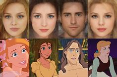 Israeli artist Karen Graw, who works under the name 'Avalonis', has brought to life the characters that have captivated millions of us in these incredible illustrations. (Left to right) Giselle, Jane, Tarzan, Cinderella
