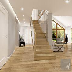 Dom w Milanówku Stairs, House Design, Flooring, Living Room, Wood, Modern, Inspiration, Home Decor, Interiors