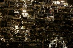 BBC Television Centre: lighting rigs in studio 4