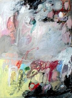 she kisses and tells by Wendy McWilliams -  mixed media on 18x24 paper http://wendy-mcwilliams.squarespace.com