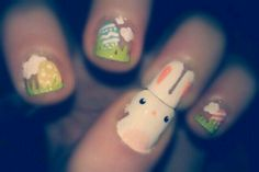 My Easter Nails , Bunnny !