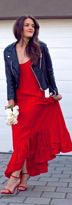 Beautiful red maxi dress