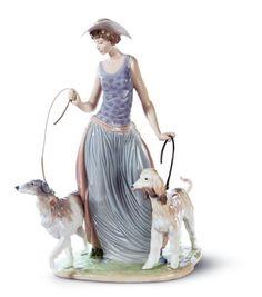 Lladro Elegant Promenade Figurine. #Lladro #Statue #Sculpture #Decor #Gift #gosstudio .★ We recommend Gift Shop: http://www.zazzle.com/vintagestylestudio ★
