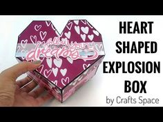 Box Cards Tutorial, Card Tutorials, Scrapbook Box, Scrapbooking, Birthday Explosion Box, Explosion Box Tutorial, Exploding Gift Box, Hexagon Box, Paper Quilling Designs