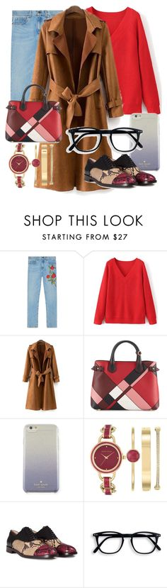 """""""Untitled #11"""" by bebebelabee on Polyvore featuring Gucci, Burberry, Kate Spade, Anne Klein and Marc Jacobs"""