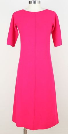 Giorgio Armani Dress Knit Fuschia Viscose Blend Short Sleeve 36    #dress #fuchsia #hotpink #pink #fashion #designer #style #summer #spring #trend #trendy #vintage #consignment #shop #store #online #armani #giorgioarmani #oldschool #women #ootd #ootn #stylemafia #fashiondaily #vogue #nordstrom #versace #prada #lookbook #sjp #dvf #stylish #pop #color #glamour #minimal #gucci #beautiful #beauty