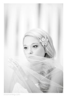 black and white, diamond hair accessory, bridal portrait, wedding dress, jeweled belt, veil, veil, beauty, Foundation for the Carolinas, Bridal Session, Charlotte NC Wedding Photographer, Kristin Vining Photography