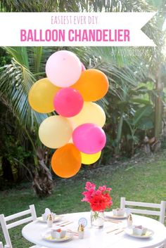 How to Make a Balloon Chandelier | TodaysCreativeBlog.net