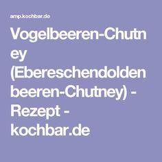 Vogelbeeren-Chutney (Ebereschendoldenbeeren-Chutney) - Rezept - kochbar.de